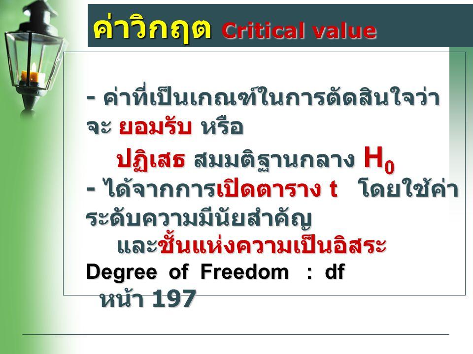 ค่าวิกฤต Critical value