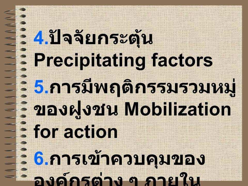 4.ปัจจัยกระตุ้น Precipitating factors