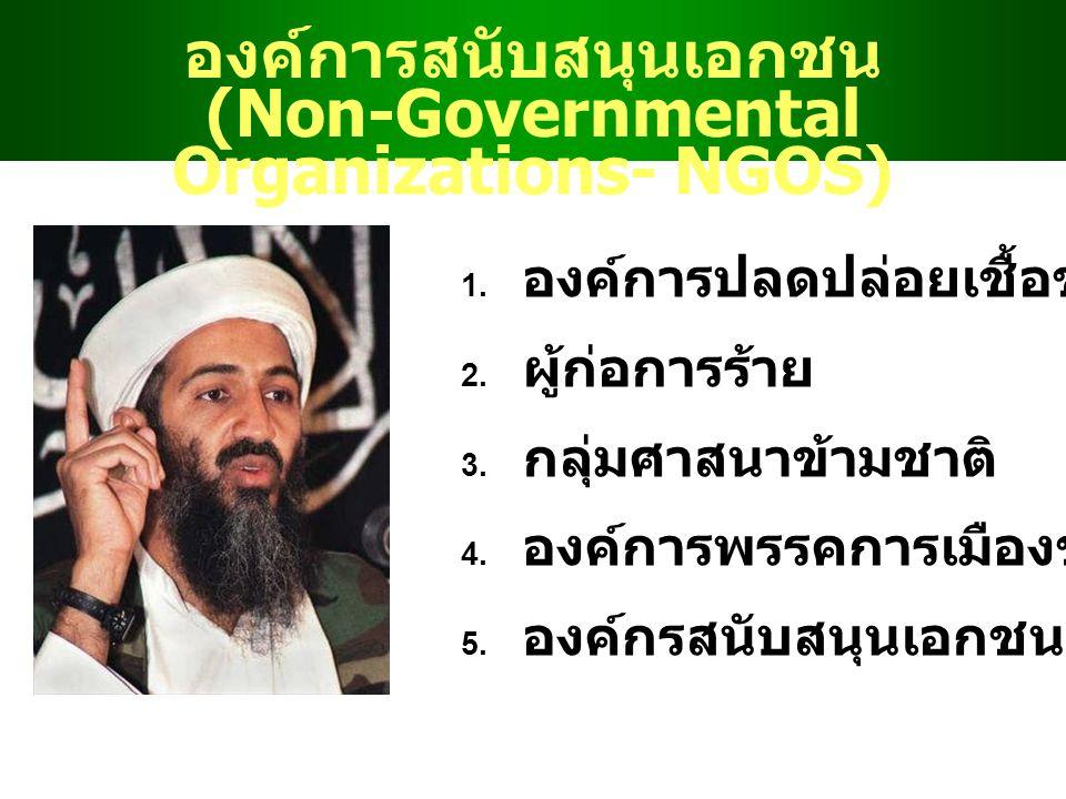 องค์การสนับสนุนเอกชน (Non-Governmental Organizations- NGOS)