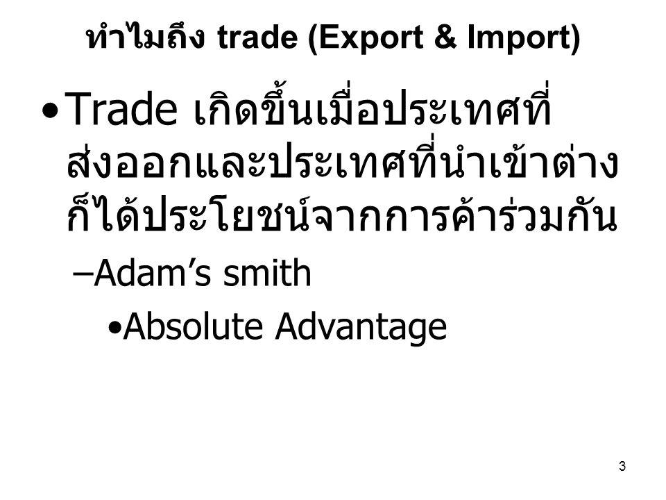 ทำไมถึง trade (Export & Import)