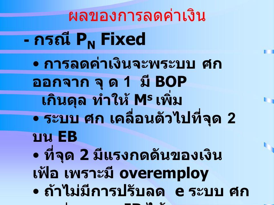 ผลของการลดค่าเงิน - กรณี PN Fixed