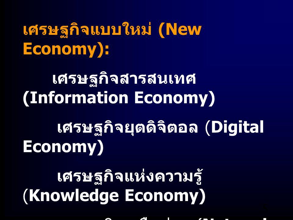 เศรษฐกิจแบบใหม่ (New Economy):