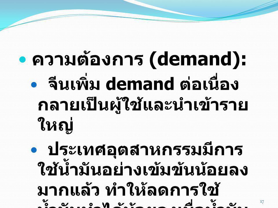 ความต้องการ (demand):