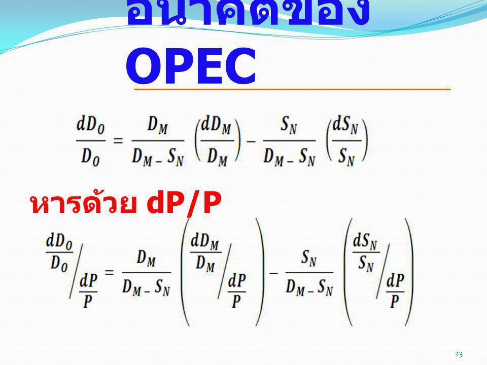 อนาคตของ OPEC หารด้วย dP/P 119