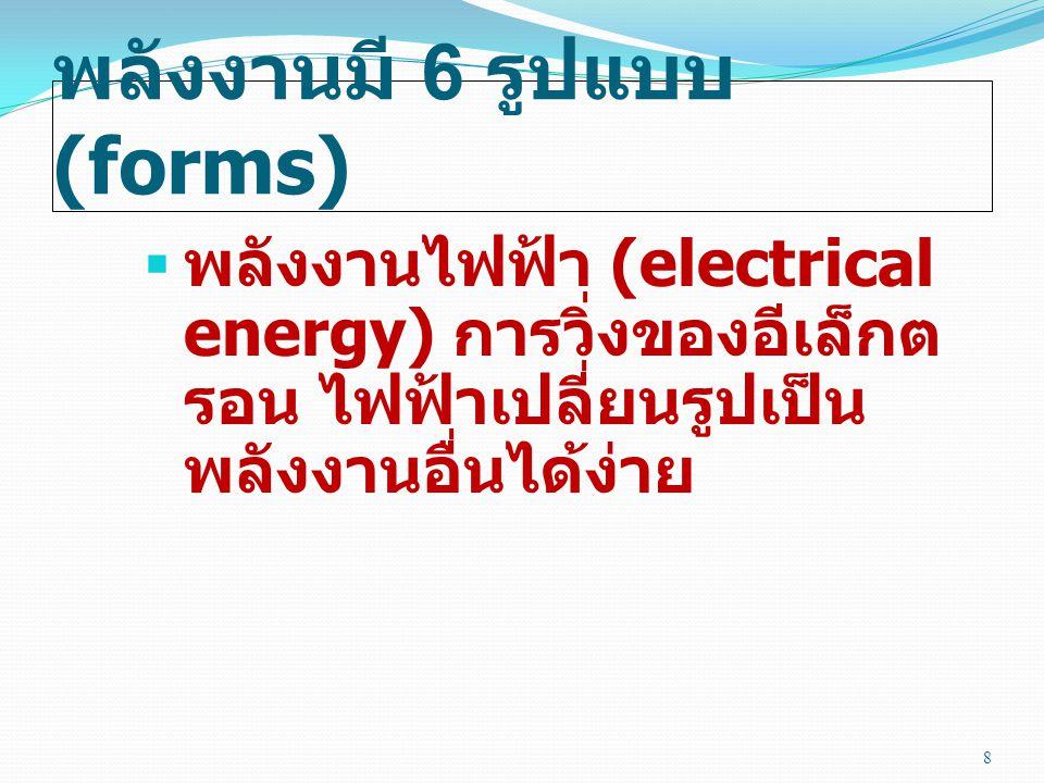 พลังงานมี 6 รูปแบบ (forms)