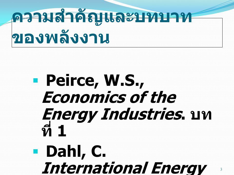 ความสำคัญและบทบาทของพลังงาน