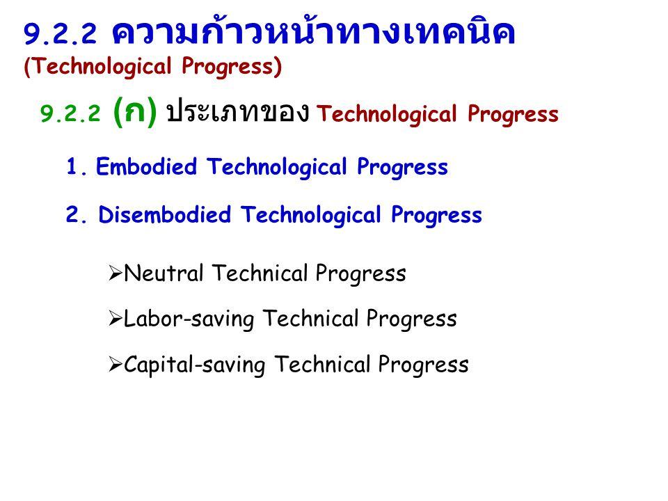 9.2.2 ความก้าวหน้าทางเทคนิค (Technological Progress)