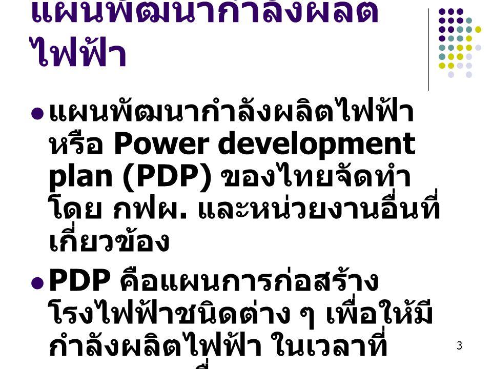 แผนพัฒนากำลังผลิตไฟฟ้า
