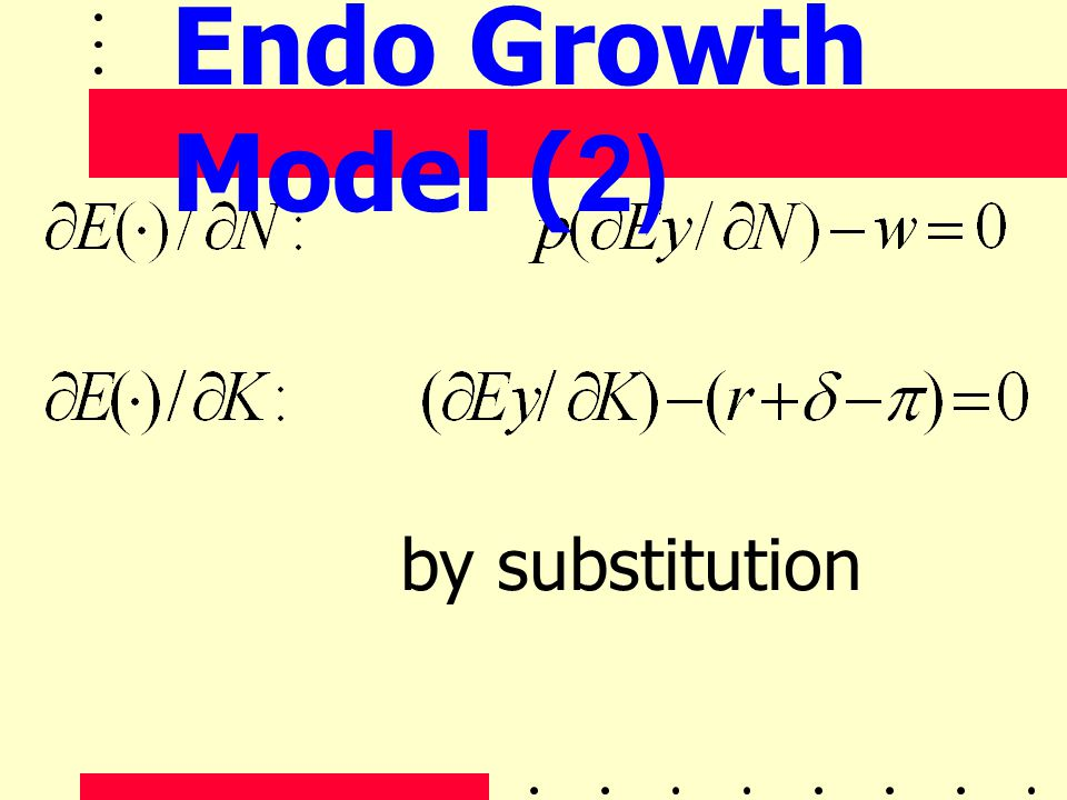 Endo Growth Model (2) by substitution