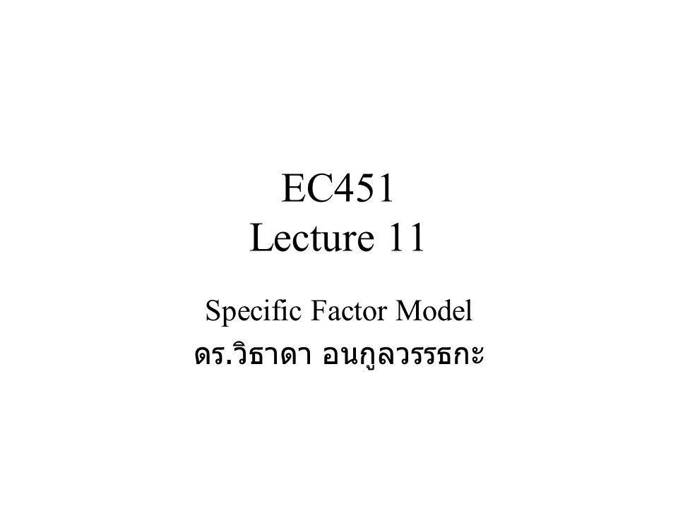 Specific Factor Model ดร.วิธาดา อนกูลวรรธกะ