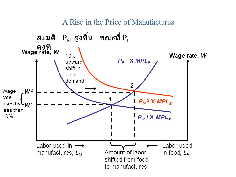 A Rise in the Price of Manufactures