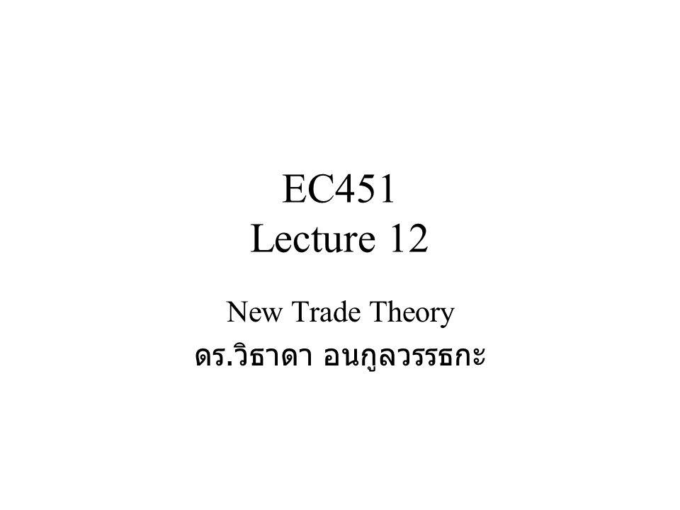New Trade Theory ดร.วิธาดา อนกูลวรรธกะ