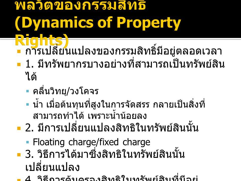 พลวัตของกรรมสิทธิ์ (Dynamics of Property Rights)