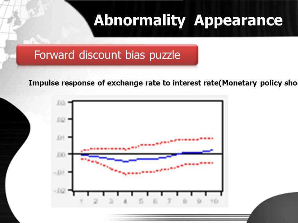 Forward discount bias puzzle