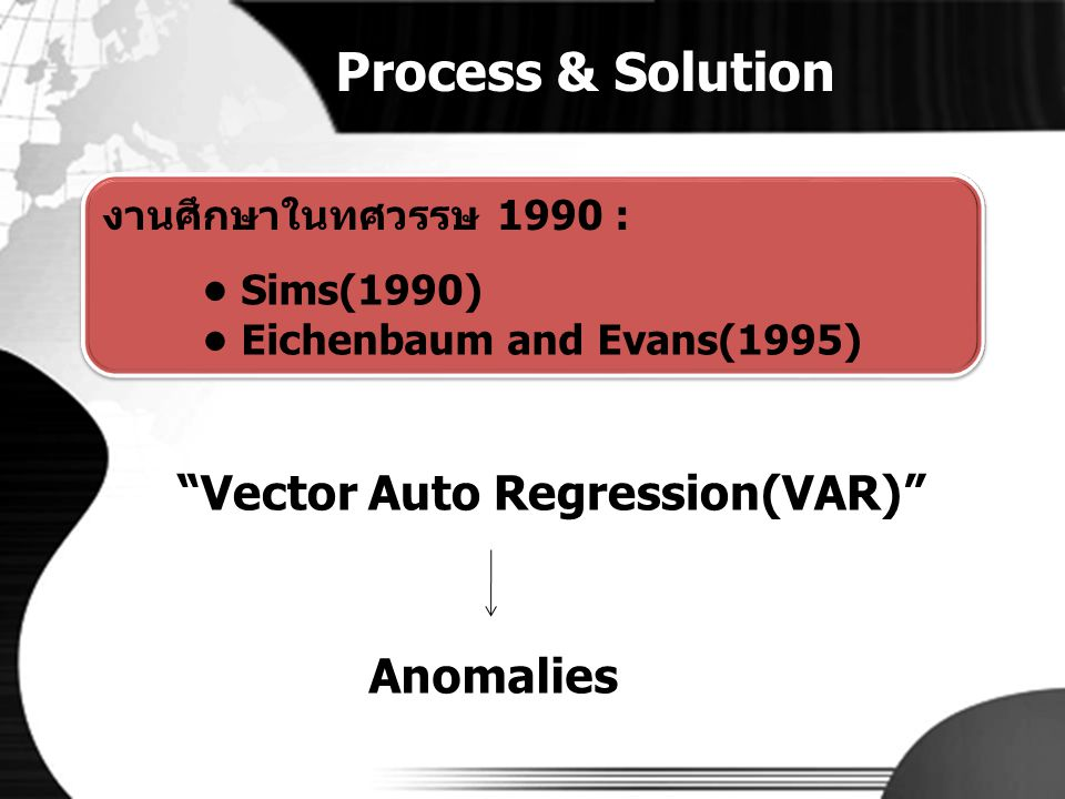 Process & Solution Vector Auto Regression(VAR) Anomalies