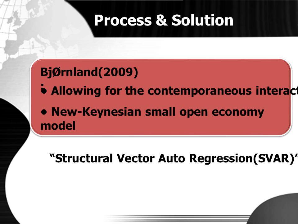 Process & Solution BjØrnland(2009) :