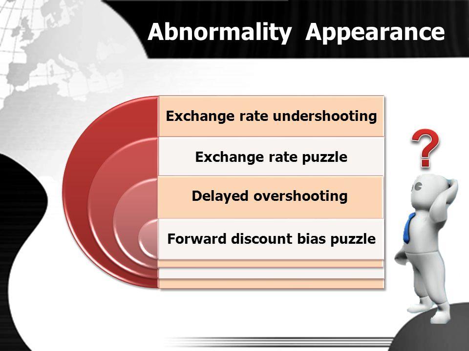 Exchange rate undershooting Forward discount bias puzzle