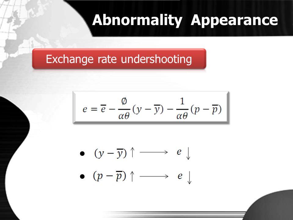 Exchange rate undershooting