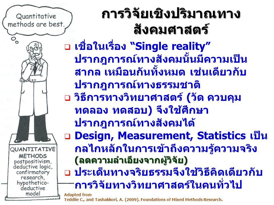 การวิจัยเชิงปริมาณทางสังคมศาสตร์
