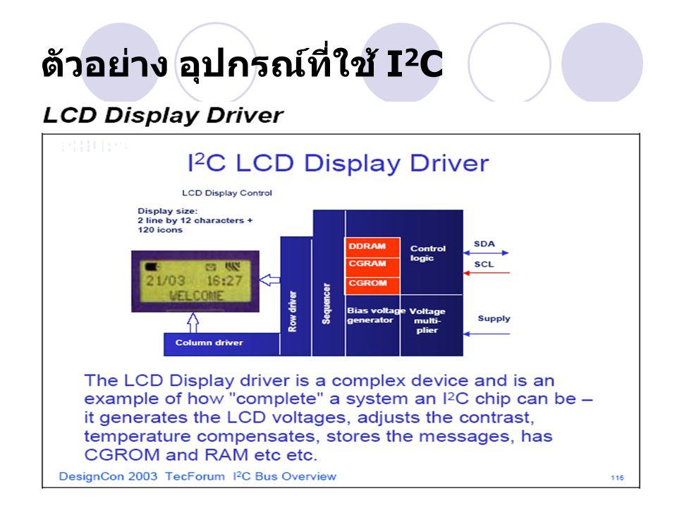 ตัวอย่าง อุปกรณ์ที่ใช้ I2C