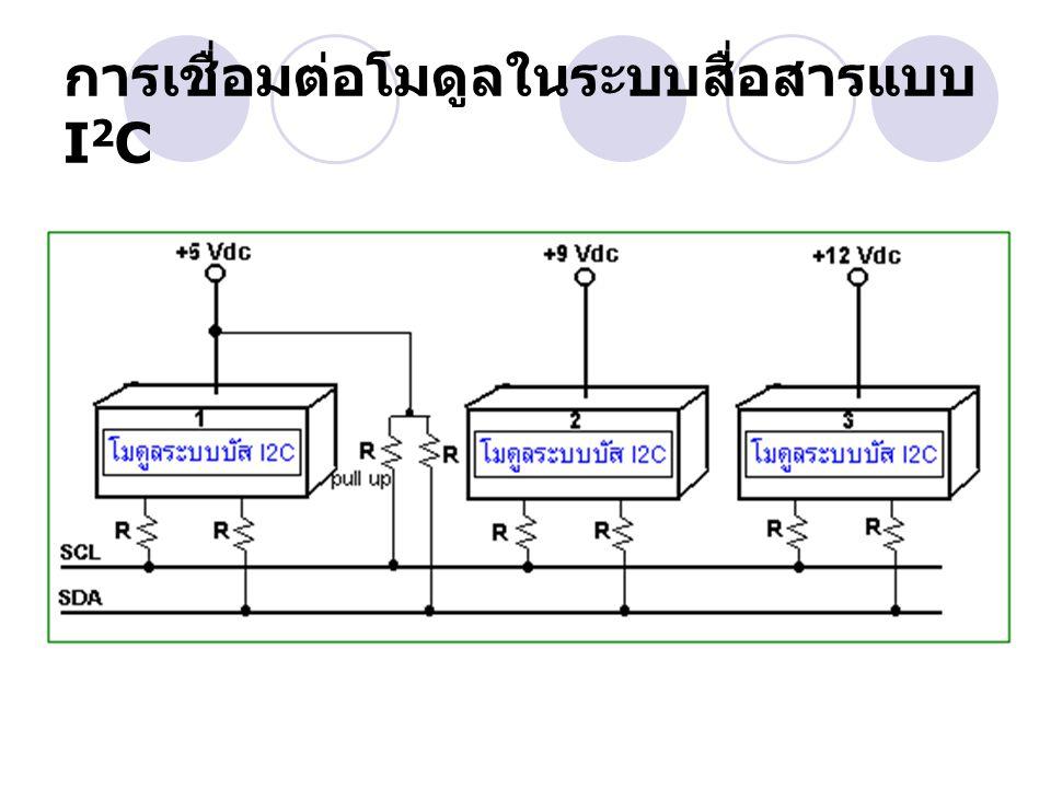การเชื่อมต่อโมดูลในระบบสื่อสารแบบ I2C