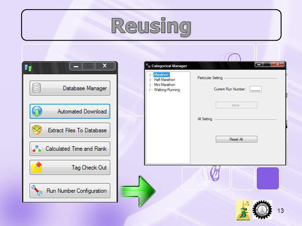 Reusing