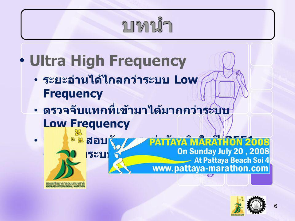 บทนำ Ultra High Frequency ระยะอ่านได้ไกลกว่าระบบ Low Frequency