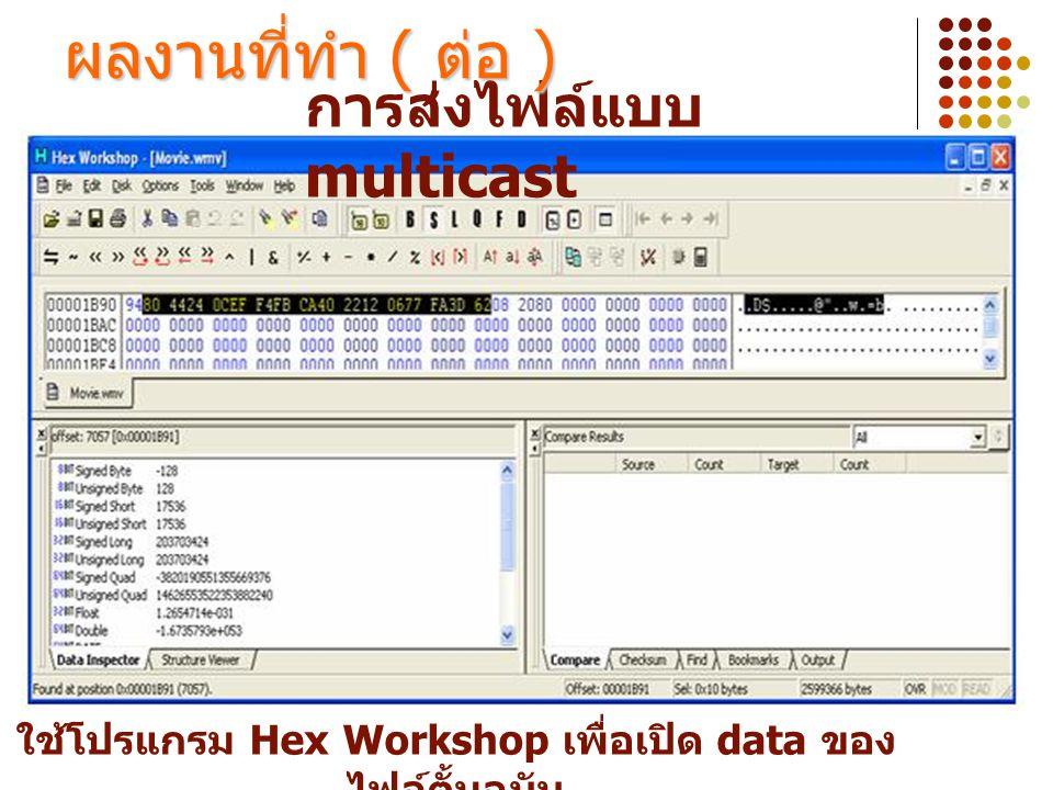 ใช้โปรแกรม Hex Workshop เพื่อเปิด data ของไฟล์ตั้นฉบับ