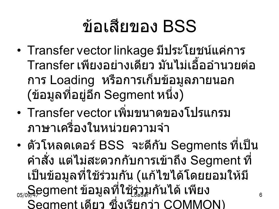ข้อเสียของ BSS