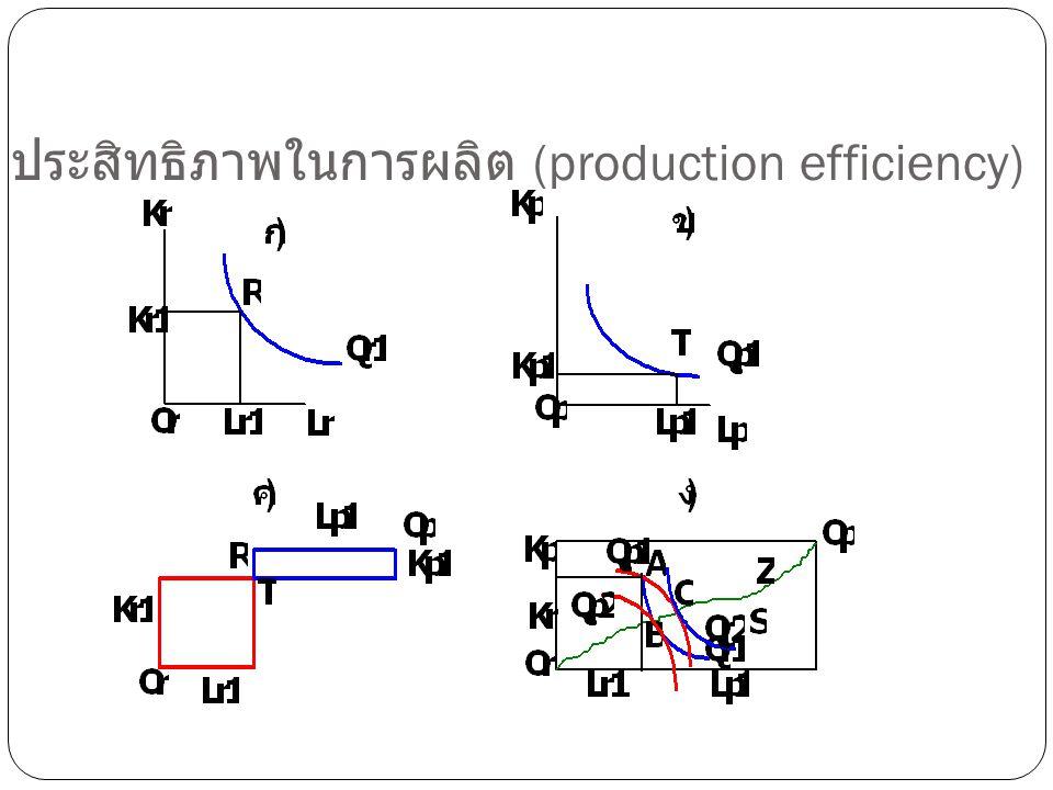 ประสิทธิภาพในการผลิต (production efficiency)