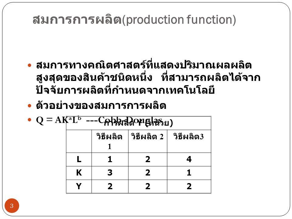 สมการการผลิต(production function)