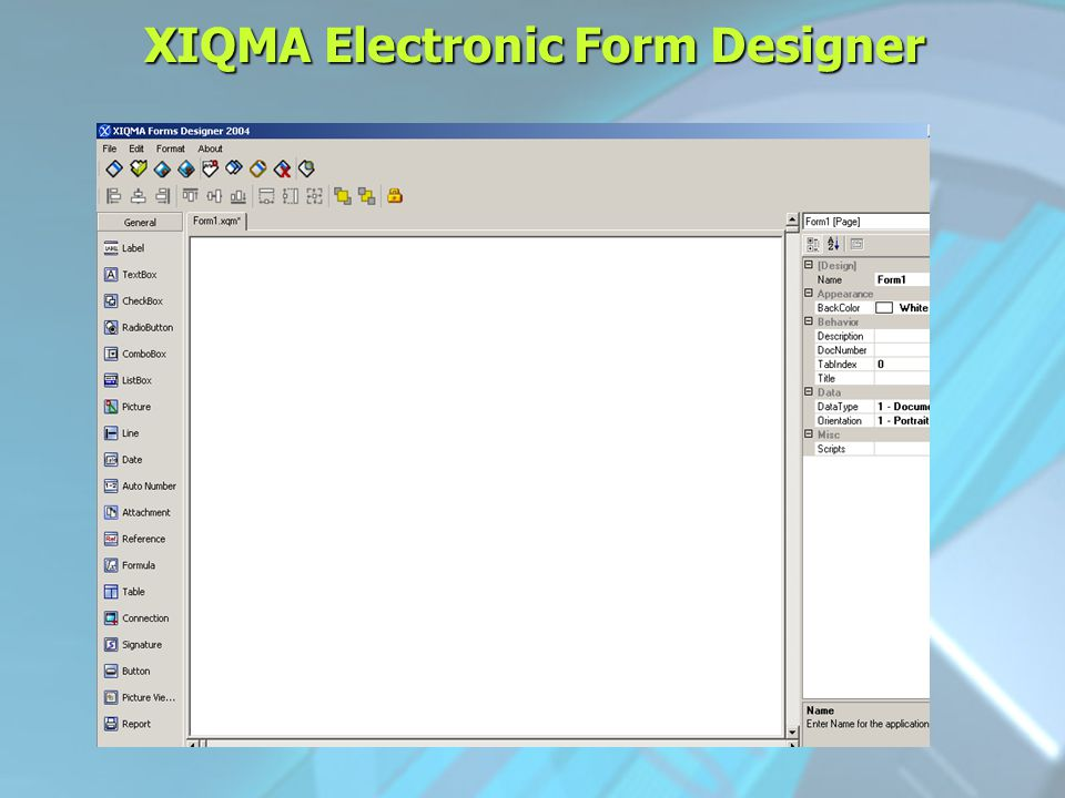 XIQMA Electronic Form Designer