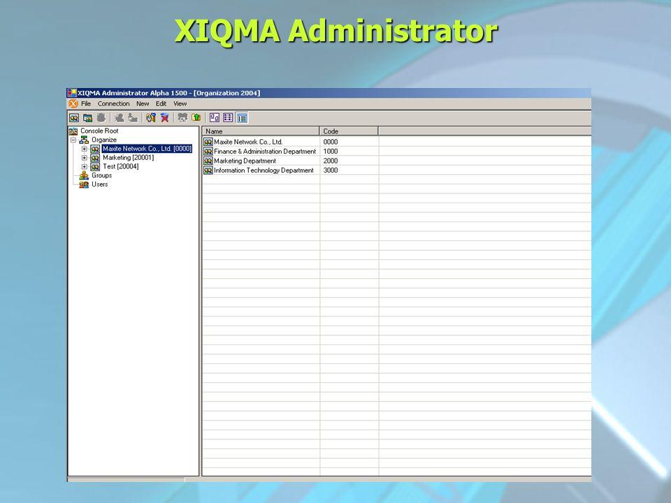 XIQMA Administrator