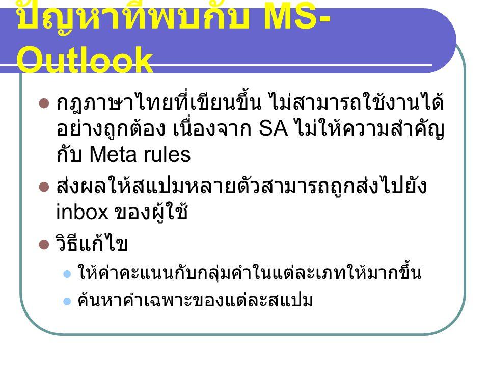 ปัญหาที่พบกับ MS-Outlook