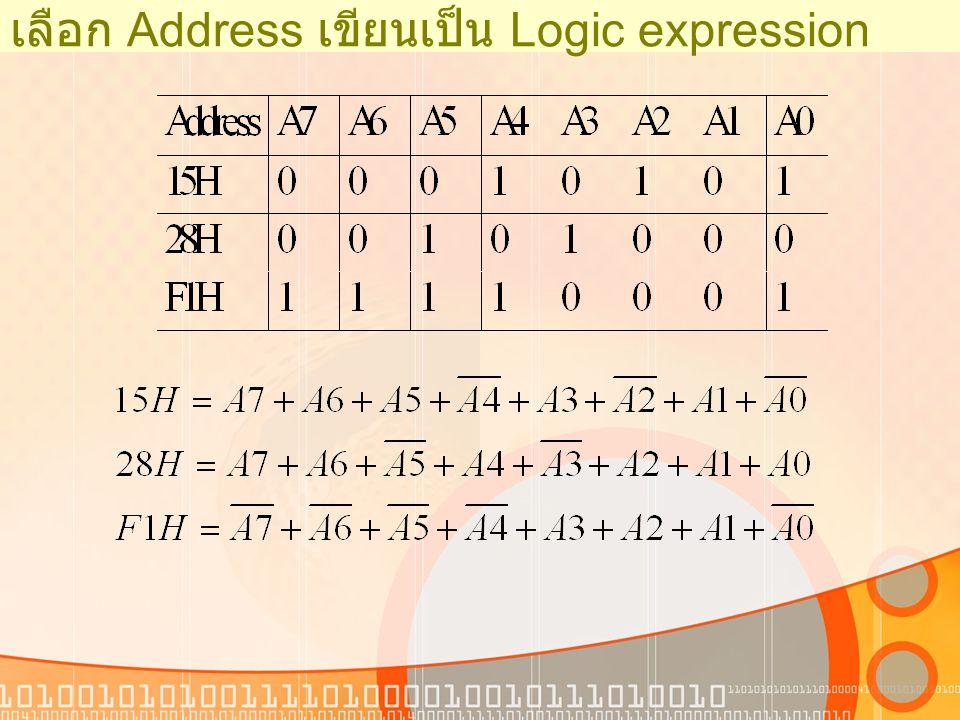 เลือก Address เขียนเป็น Logic expression