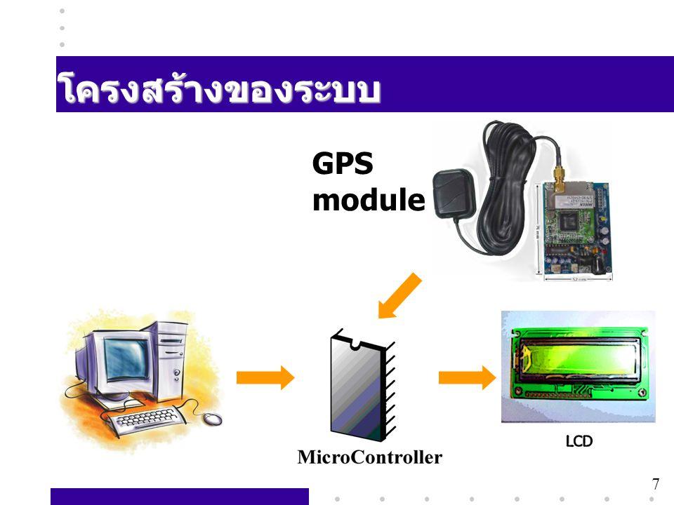 โครงสร้างของระบบ GPS module 7