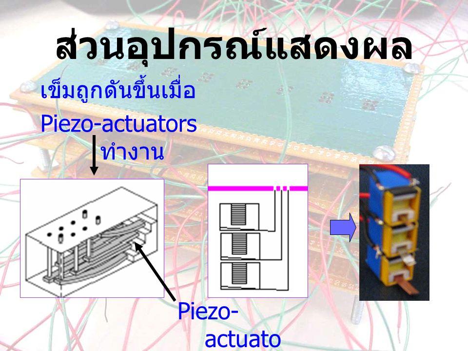 Piezo-actuators ทำงาน