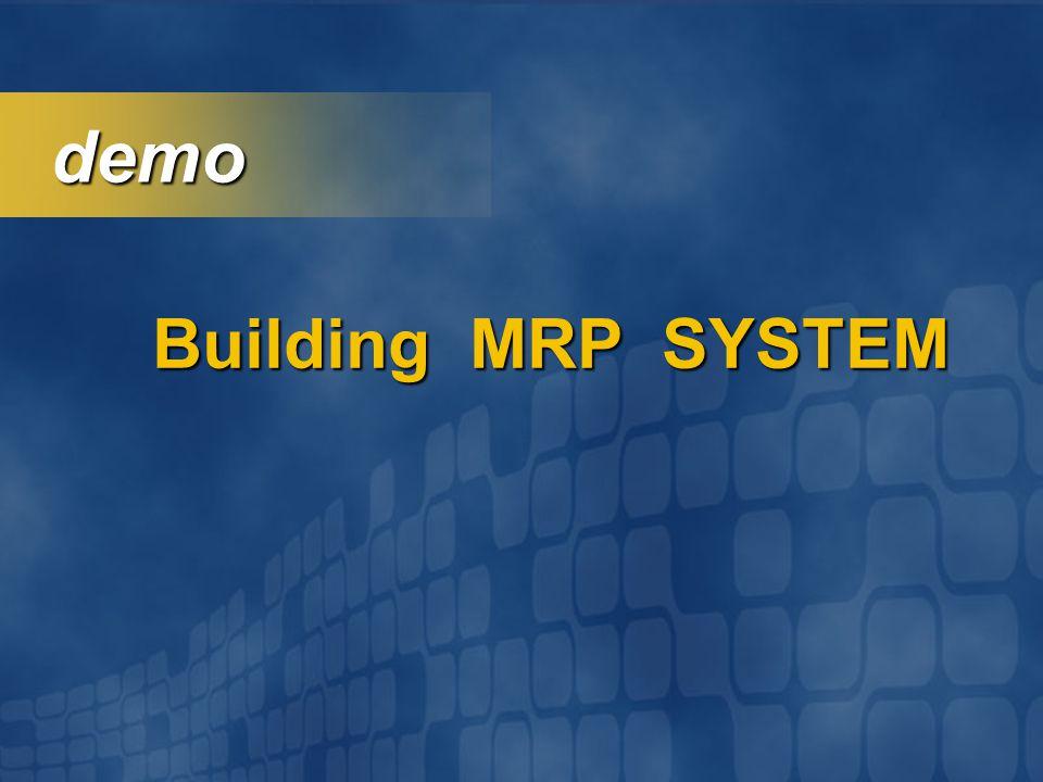 demo Building MRP SYSTEM