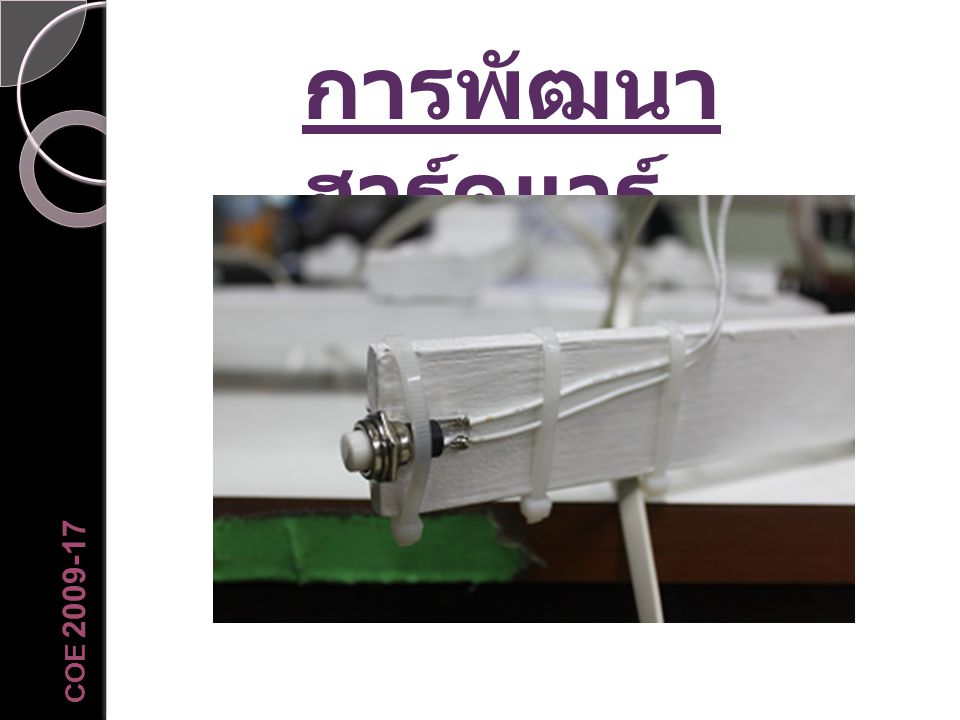 การพัฒนาฮาร์ดแวร์ COE 2009-17