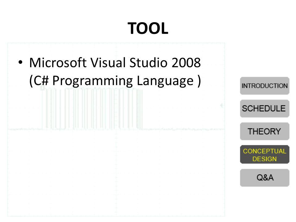 TOOL Microsoft Visual Studio 2008 (C# Programming Language )