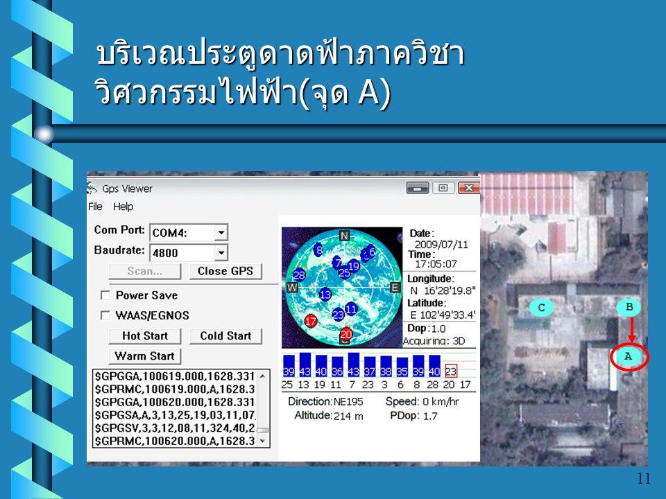 บริเวณประตูดาดฟ้าภาควิชาวิศวกรรมไฟฟ้า(จุด A)