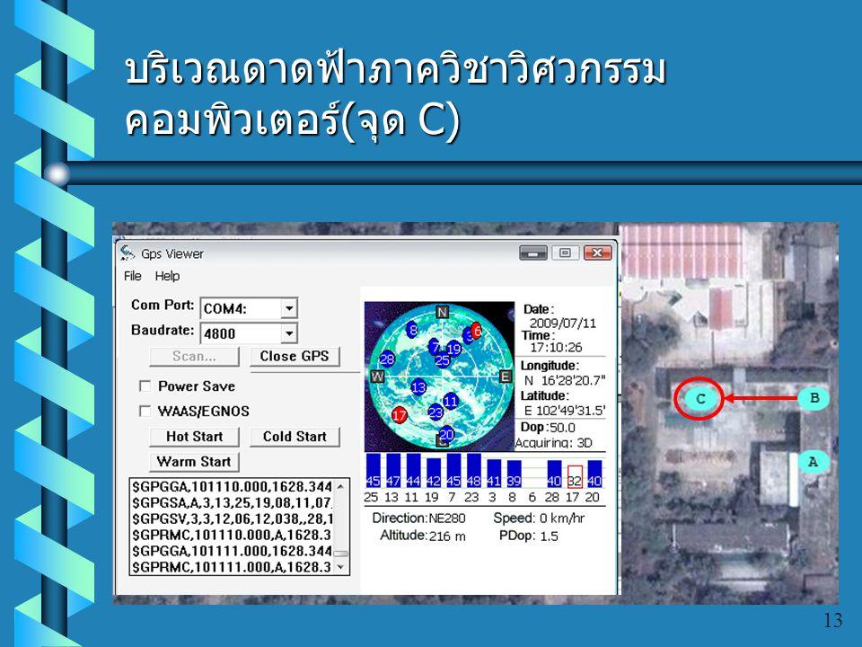 บริเวณดาดฟ้าภาควิชาวิศวกรรมคอมพิวเตอร์(จุด C)