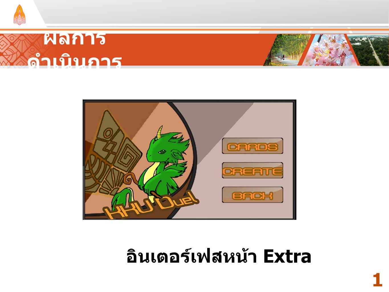 ผลการดำเนินการ Your Text Here Your Text Here อินเตอร์เฟสหน้า Extra 16