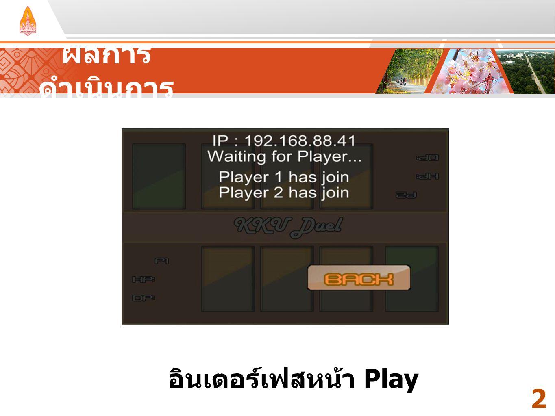 ผลการดำเนินการ Your Text Here Your Text Here อินเตอร์เฟสหน้า Play 24