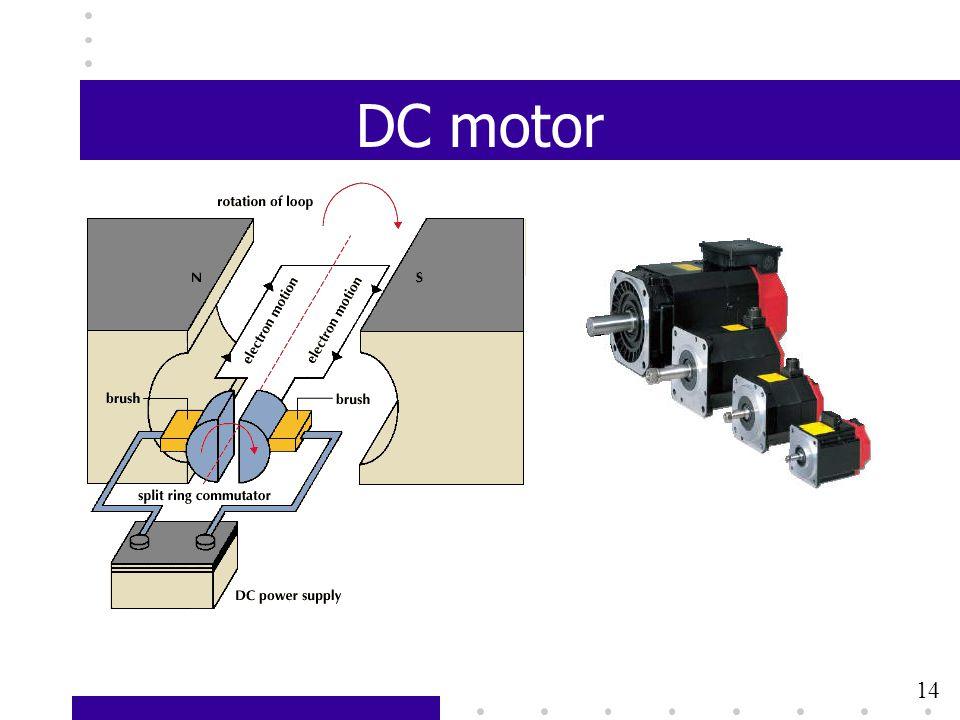 DC motor 14