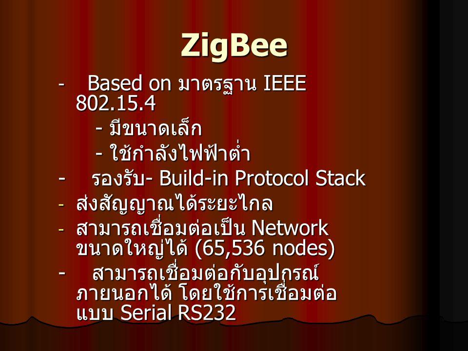 ZigBee - มีขนาดเล็ก - ใช้กำลังไฟฟ้าต่ำ