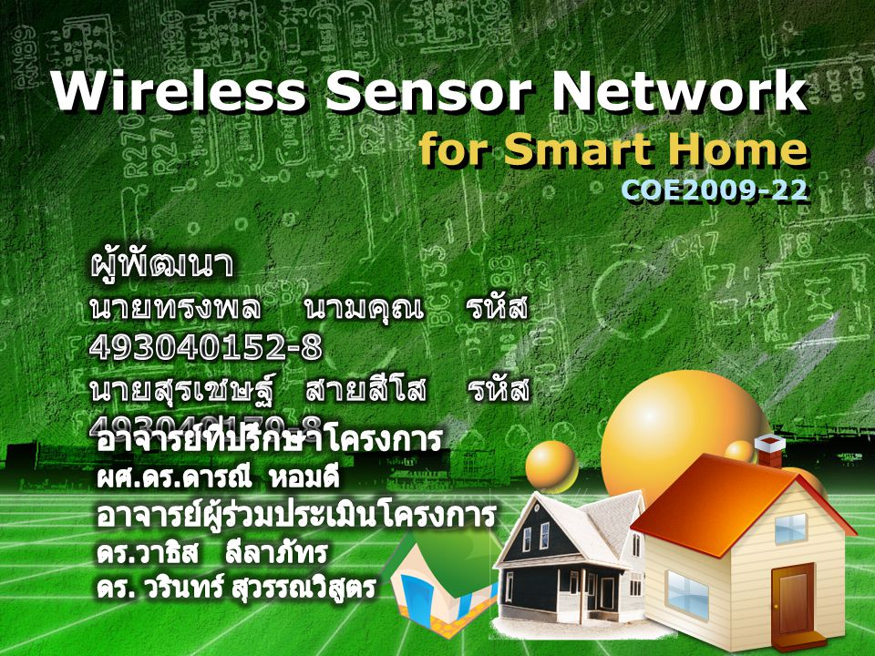 Wireless Sensor Network for Smart Home COE2009-22