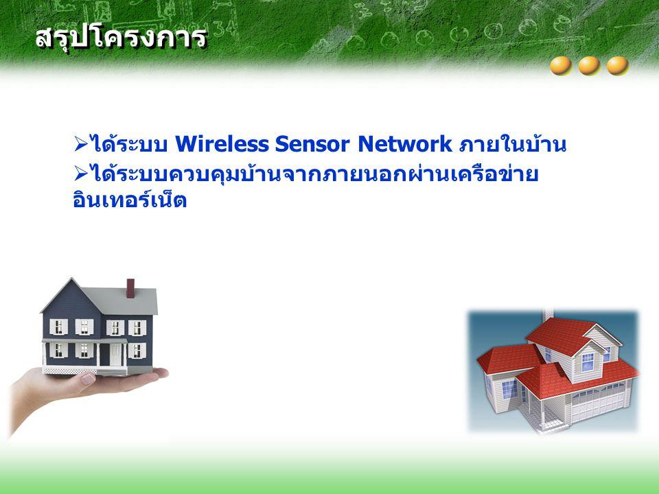 สรุปโครงการ ได้ระบบ Wireless Sensor Network ภายในบ้าน