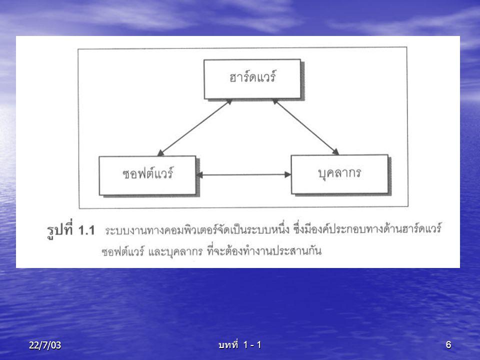 22/7/03 บทที่ 1 - 1