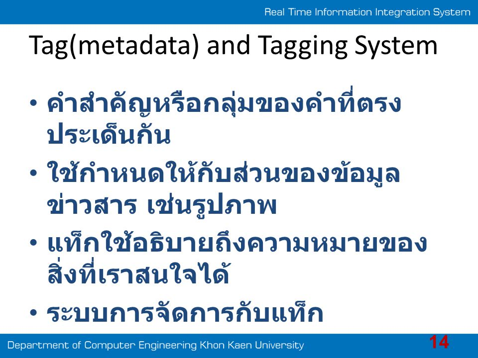Tag(metadata) and Tagging System